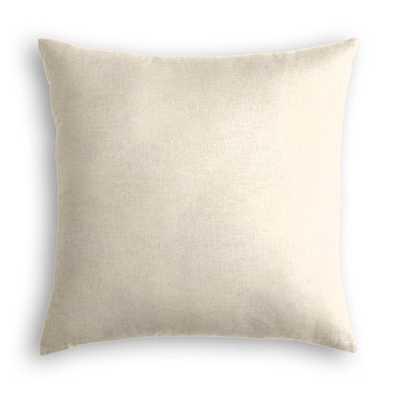 Metallic Linen - Shimmer throw pillow - 18x18 - Poly Insert - Loom Decor