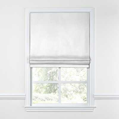 "Flat Roman Shade / Classic Linen - White, 24"" w x 24"" l - Loom Decor"