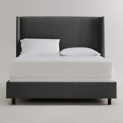 Linen Bryn Bed: Gray - Fabric - King Bed by World Market King/Charcoal - World Market/Cost Plus