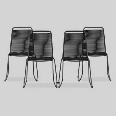 Cadima 4pk Metal Outdoor Patio Dining Chair - Charcoal - Project 62 - Target