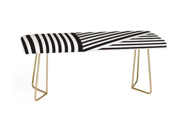 BLACK AND WHITE EVERYTHING NICE Bench - Wander Print Co.