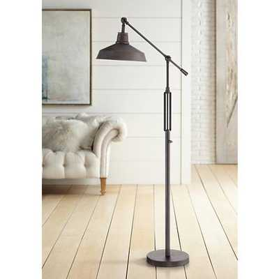Turnbuckle Downbridge LED Floor Lamp Bronze Finish - Lamps Plus
