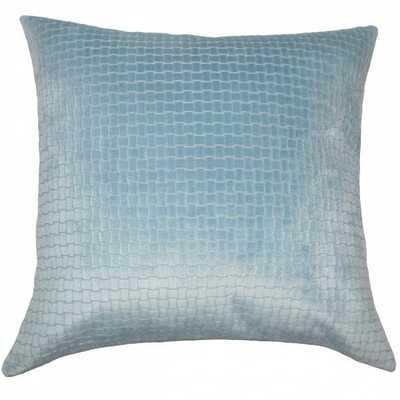 """Earleen Solid Pillow Light Blue - 20""""x20"""" with down Insert - Linen & Seam"""