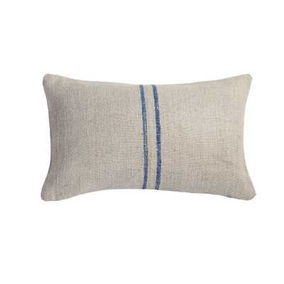 VINTAGE FEED SACK PILLOW COVER – BLUE - Wisteria