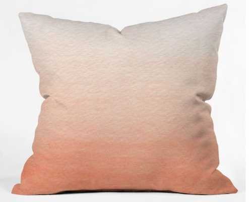 "Peach Ombre 16""x16"" Throw Pillow - Wander Print Co."