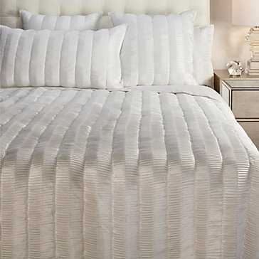 Savion Bedding - Pearl-King Duvet - Z Gallerie