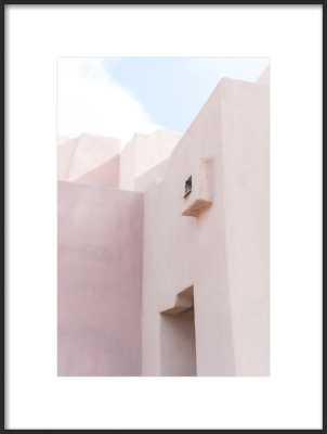 "Sedona Adobe  BY CARLEY RUDD - 14""x20"" Framed Art Print, Matte Black Metal Frame, With Matte - Artfully Walls"