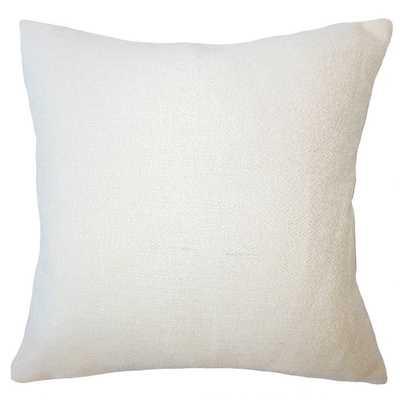 "Winslow Solid Pillow - Creme -  20"" x 20"", Down Insert - Linen & Seam"