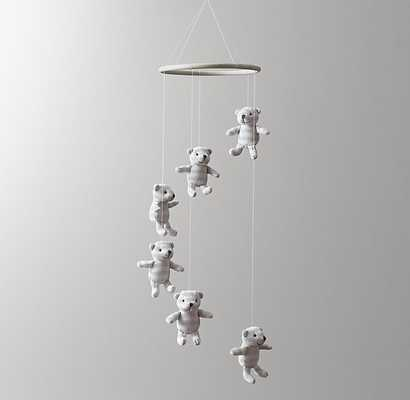 LUXE KNIT ANIMAL MOBILE BEAR - RH Baby & Child