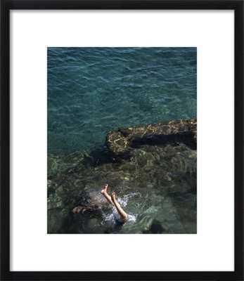 Marina Di Praia, Italy - 14x17 - Contemporary Black Frame - Artfully Walls