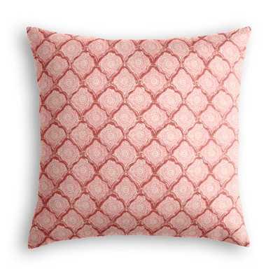 Sanganer  Blush Throw Pillow with Down Insert - Loom Decor