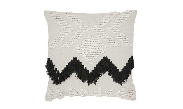 Fringe (Black) Pillow - Joybird