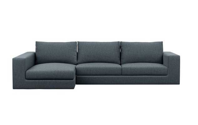Walters Chaise Sectional in Cross Weave, Rain - Interior Define