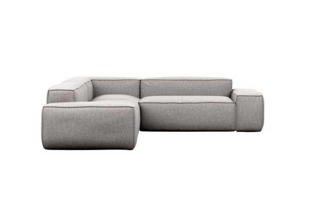 Gray Sectionals with Corner Sectionals in Earth Fabric - Interior Define