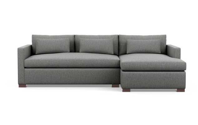 Charly Sectionals in Plow Fabric with Oiled Walnut legs - Interior Define