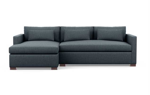 Charly Sectionals in Rain Fabric with Oiled Walnut legs - Interior Define