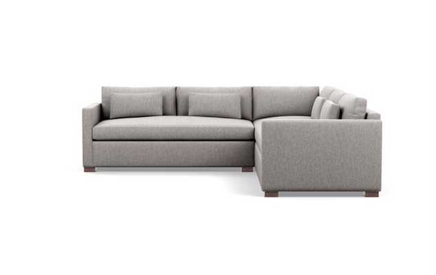Charly Sectionals in Earth Fabric with Oiled Walnut legs - Interior Define