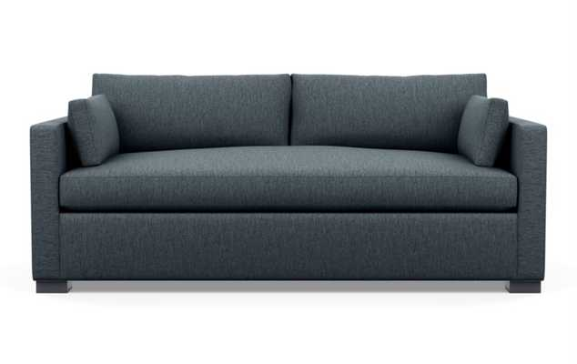 Charly Sleeper Sofa with Sleepers in Rain Fabric with Matte Black legs - Interior Define