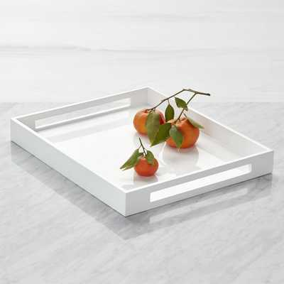 Grant White Serving Tray - Crate and Barrel