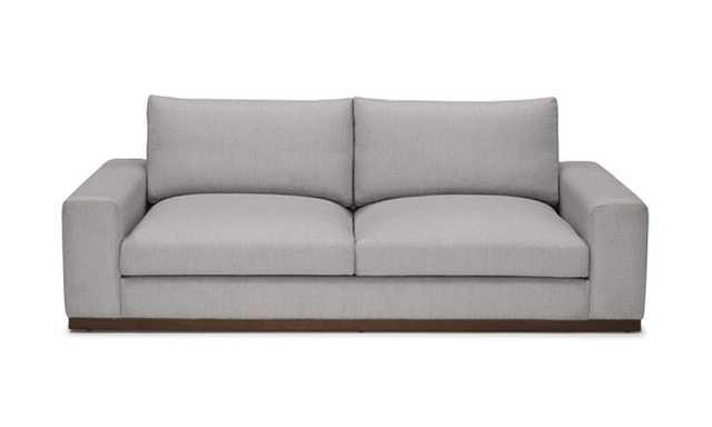 Gray Holt Mid Century Modern Sofa - Taylor Felt Grey - Coffee Bean - Joybird