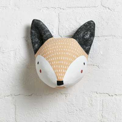 Paper Mache Fox Head - Crate and Barrel