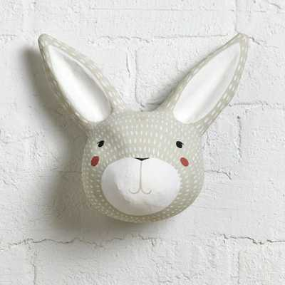 Paper Mache Rabbit Head - Crate and Barrel