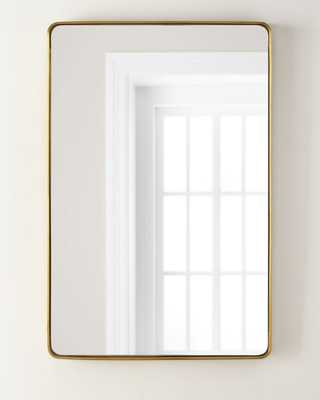 Stainless Steel Curved Rectangle Mirror - Horchow
