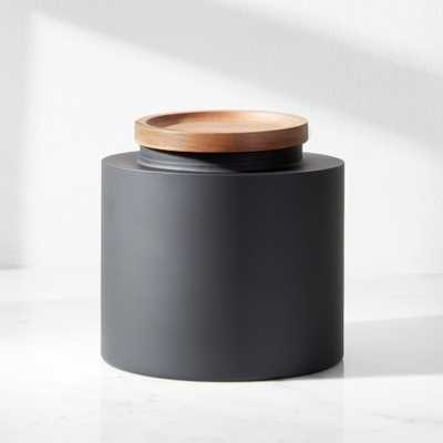 Clark Medium Matte Black Canister - Crate and Barrel