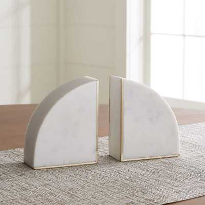 White Marble Bookends, Set of 2 - Crate and Barrel