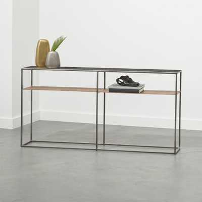 Mill Leather Console Table - CB2