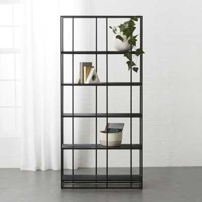 Caged Black Marble Bookcase - CB2