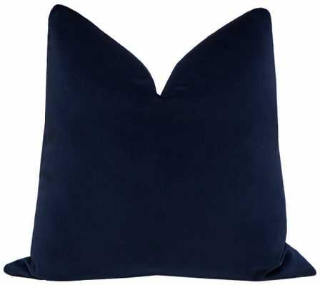 "Signature Velvet // Navy Blue - 18"" X 18"" - Little Design Company"