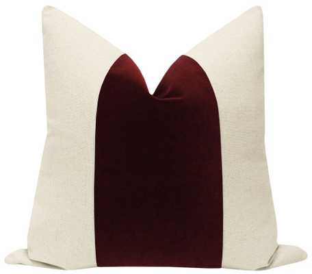 "PANEL :: Signature Velvet // Oxblood - 18"" X 18"" - Little Design Company"