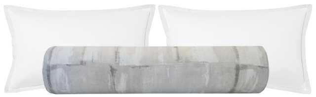 """The Bolster :: Brushstroke Linen // Grey - KING // 9"""" X 48"""" - Little Design Company"""