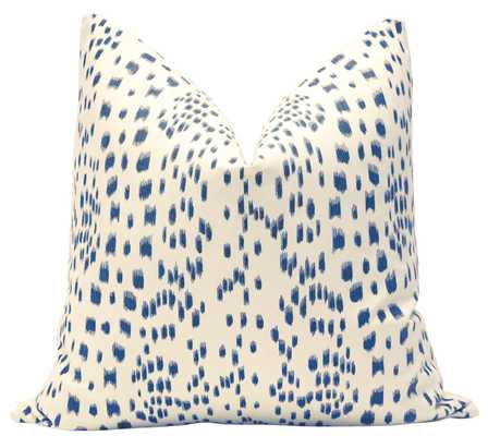 "Les Touches // Blue Pillow Cover - 22"" X 22"" - Little Design Company"