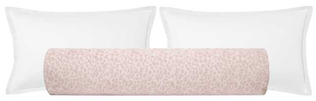 "The Bolster :: Cougar Chenille // Blush - KING // 9"" X 48"" - Little Design Company"