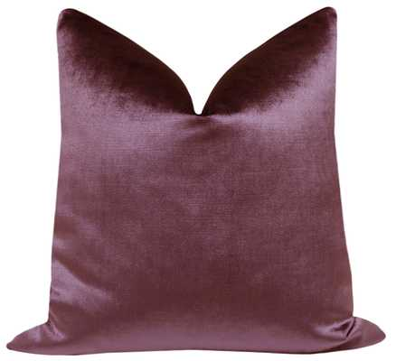 "Faux Silk Velvet // Plum - 18"" X 18"" no insert - Little Design Company"