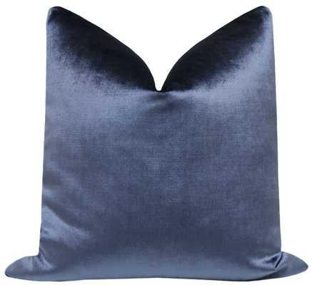 "Faux Silk Velvet // Prussian Blue - 24"" X 24"" - Little Design Company"
