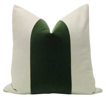 """PANEL :: Signature Velvet // Fern - 18"""" X 18"""" - Little Design Company"""