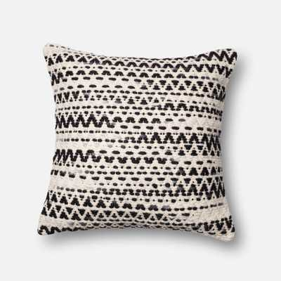 "PILLOWS - GREY / MULTI - 22"" X 22"" Cover w/Down - Loma Threads"