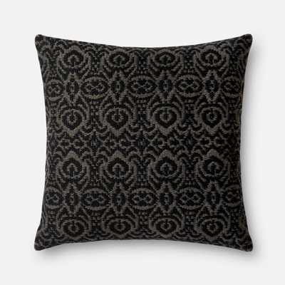 """PILLOWS - BLACK / GREY - 22"""" X 22"""" Cover w/Down - Loma Threads"""