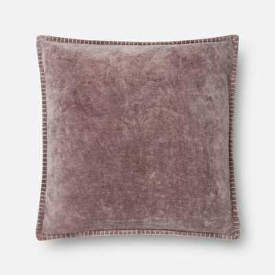 """P0603 PURPLE  - 22"""" X 22"""" Pillow Cover w/Down Insert - Loma Threads"""