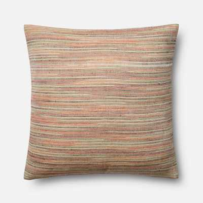 """WOVEN PILLOWS - MULTI - 22"""" X 22"""" Cover w/Poly - Loma Threads"""