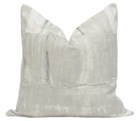 "Brushstroke Linen // Grey - 22"" X 22"" - Little Design Company"