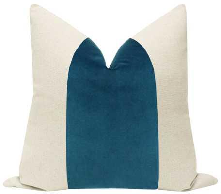 "PANEL :: Signature Velvet // Baltic Blue - 18"" Pillow Cover - Little Design Company"