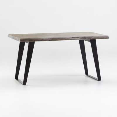 "Yukon Grey 58"" Dining Table - Crate and Barrel"