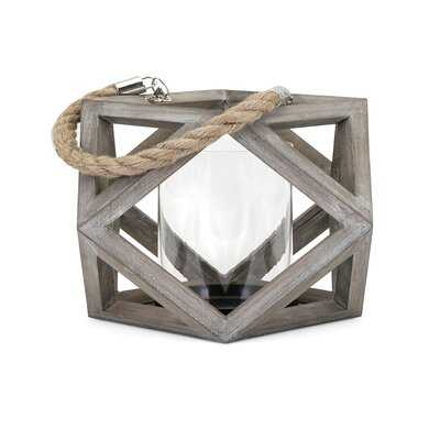 Wood Tabletop Lantern - Birch Lane