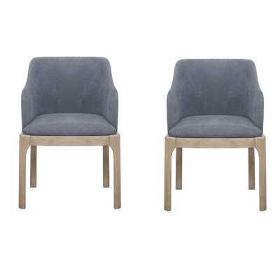 Salvi Arm Chairs Denim Blue (Set Of 2) - Wayfair