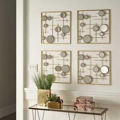 4 Piece Wraxall Beveled Mirror Set - Wayfair