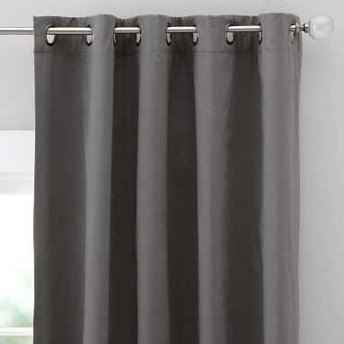 "Classic Grommet Blackout Curtain - Set of 2, 63"", Gray - Pottery Barn Teen"